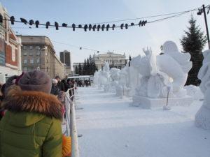 Победителями новосибирского конкурса снежных скульптур стали гости из Монголии