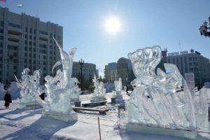 К 20-му декабря на площади Ленина установят ледовые фигуры