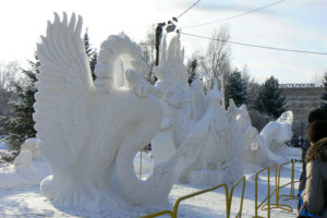 В Новосибирске закрывается Сибирский фестиваль снежной скульптуры