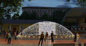 В Новосибирске начались земляные работы на месте строительства фонтана