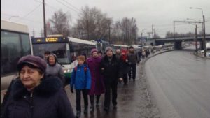 В Новосибирске бастуют водители маршруток