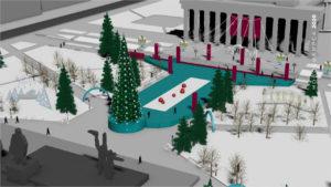 Ледовый городок в Новосибирске откроется в Театральном сквере