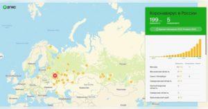 2ГИС выпустил карту распространения коронавируса в России