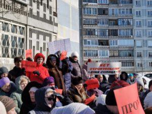 В Нижней Ельцовке протестуют против строительства многоэтажки