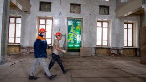 В Бердске продолжается реконструкция здания железнодорожного вокзала